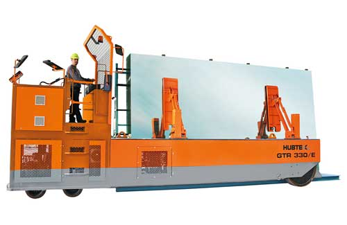 HUBTEX GTR 330 E Glass Transport System for the transportation of A- and L-stillages