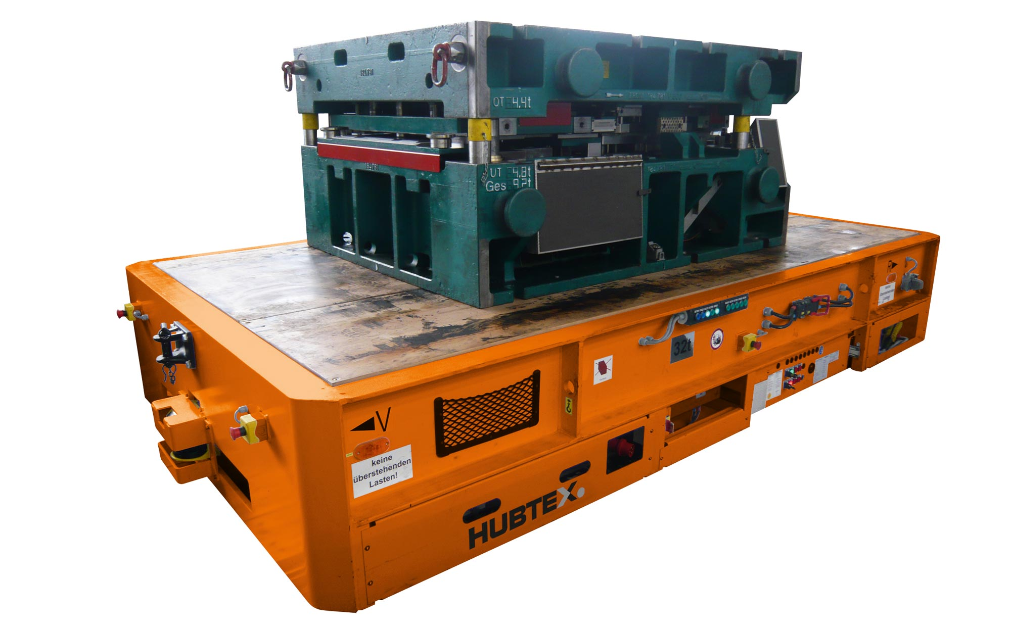 Hubtex Electric Multidirectional Sideloader Transporting Pressing Tools