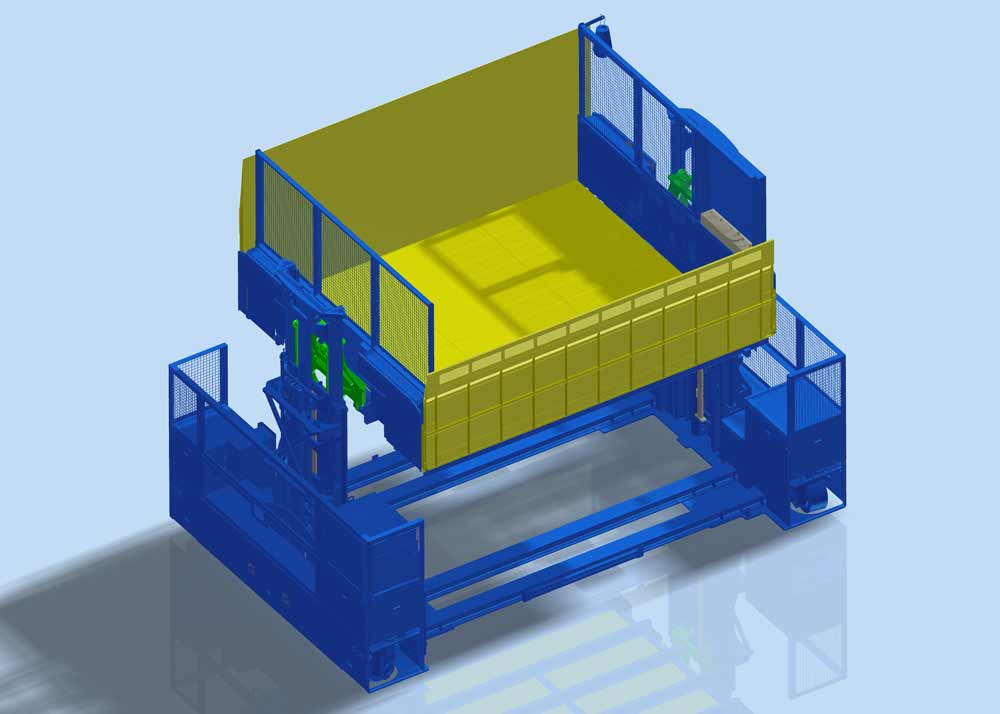 CAD drawing of EPL 30 – Material Lift and Platform