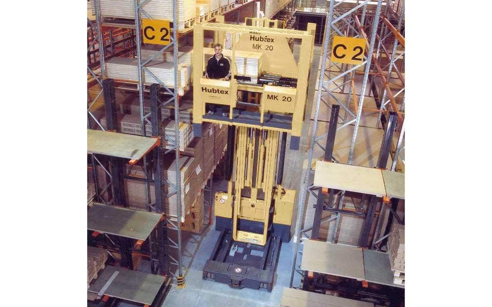 HUBTEX MK Order Picker Warehousing and Order Picking of Doors in Pallet Racks