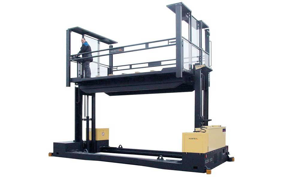 Hubtex EZK Order Picker with order picking platform silhouette