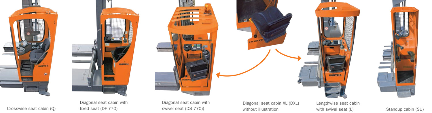 Hubtex versions of spacious and ergonomically designed driver cabs