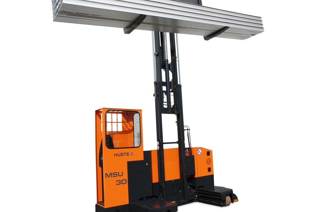 New 3-ton capacity HUBTEX multidirectional sideloader